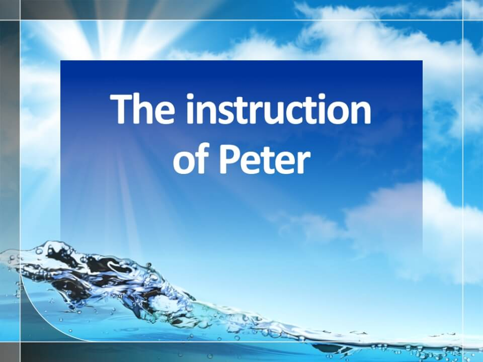 The instruction of Peter