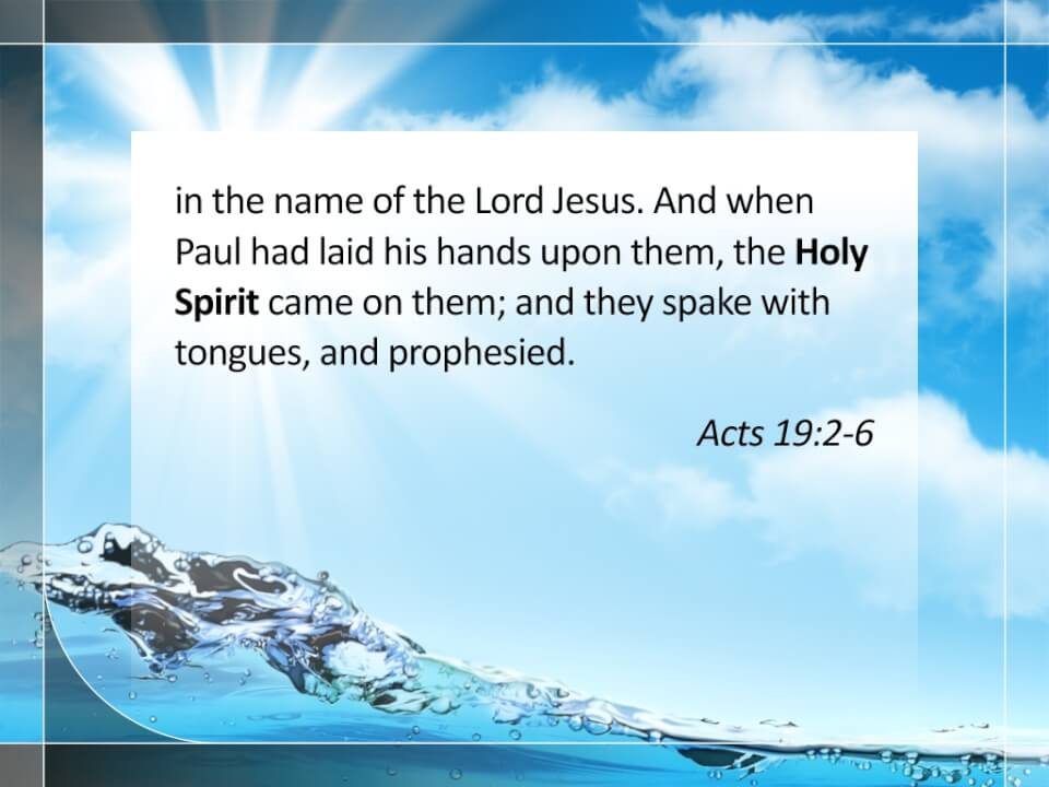Acts 19:2-6