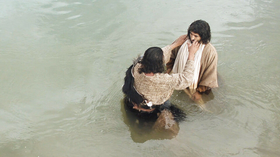 John baptises Jesus