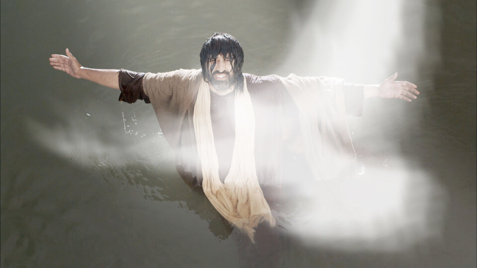 The Spirit descends on Jesus