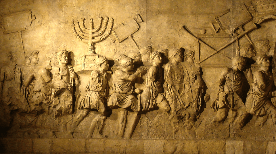The carving of the removal of the temple furniture on the Arch of Titus