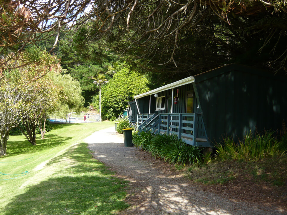 Cabins at camp venue