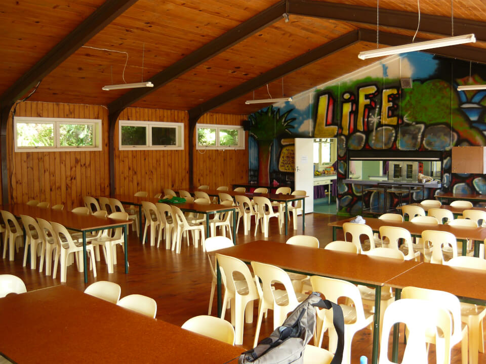 Dining room at camp venue