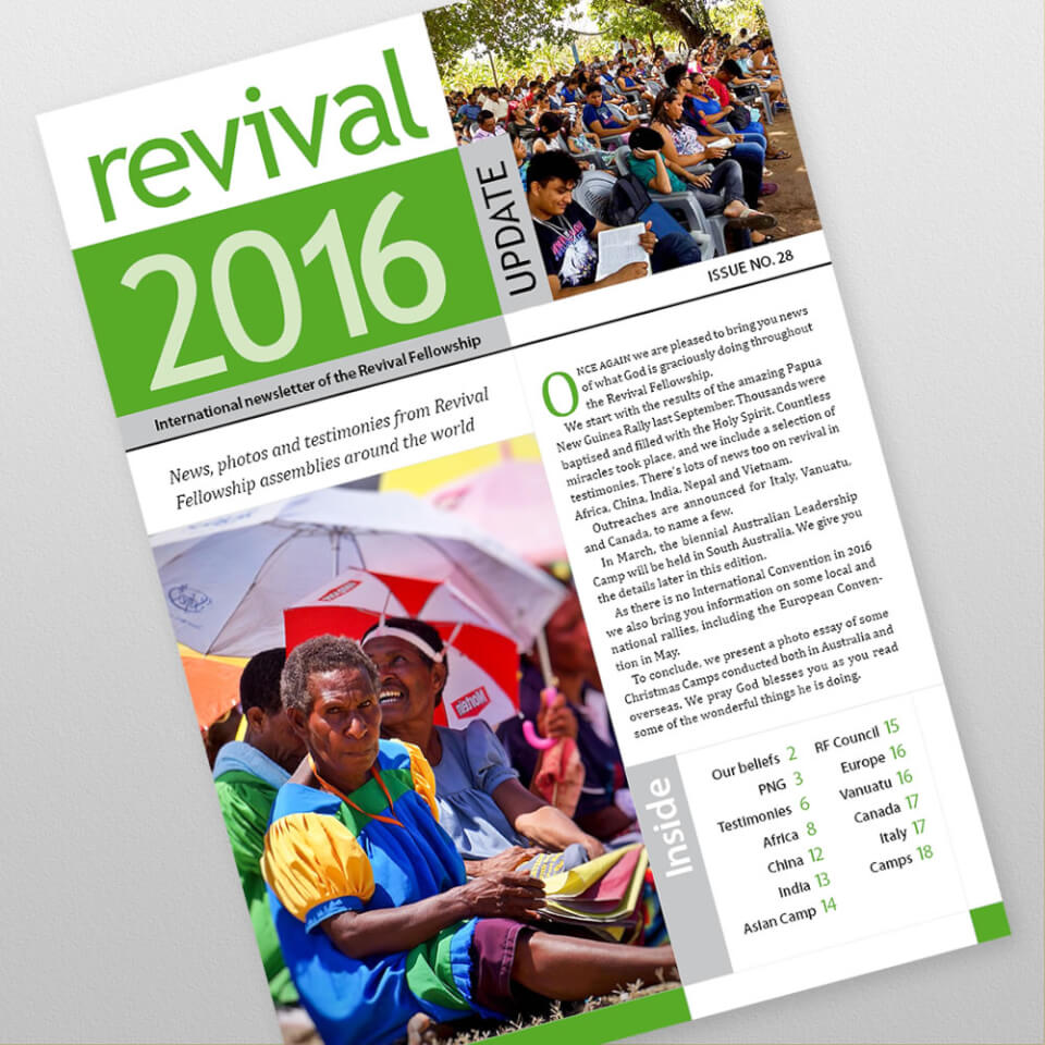 Revival Fellowship international newsletter