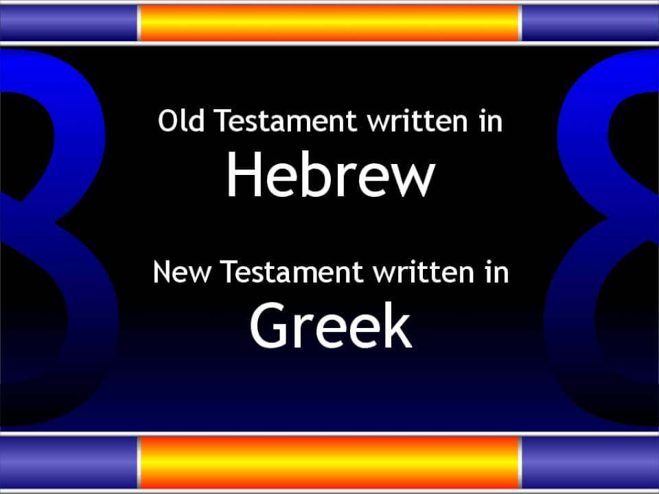 Hebrew and Greek