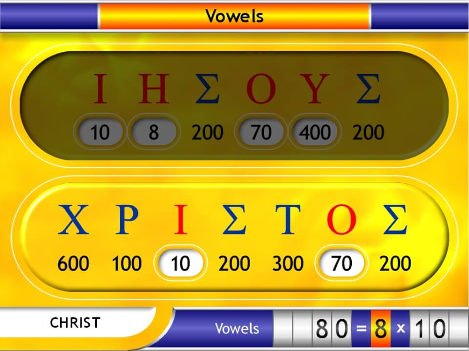 Greek vowel values in Christ