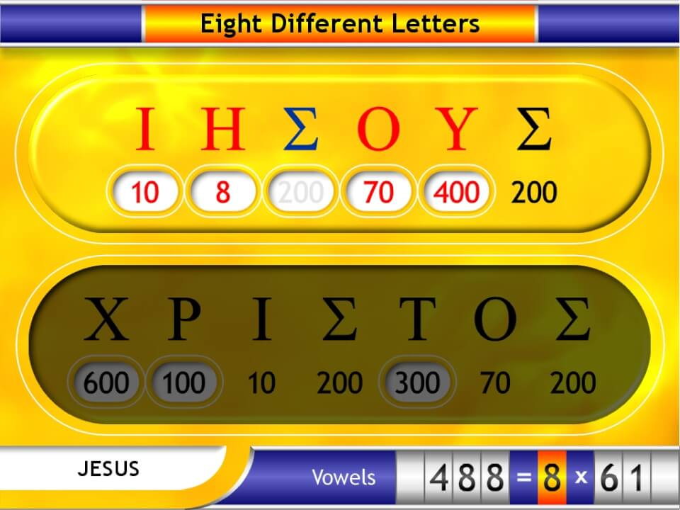 Different vowel values in Jesus Christ