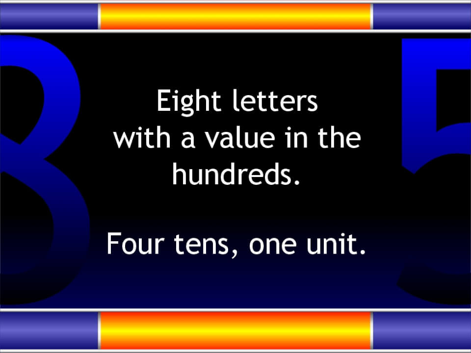 Letter values in Jesus Christ