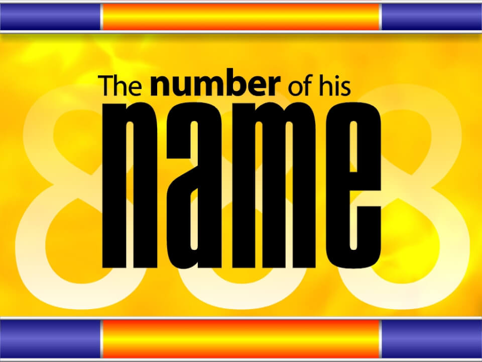 The number of his name