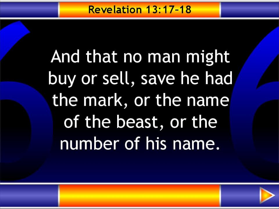 Revelation 13:17-18