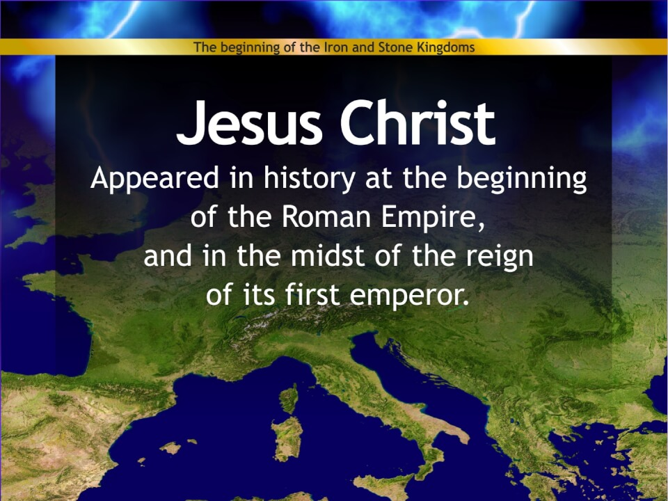 Jesus appears with the Roman Empire